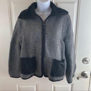 Beautiful wool blend Giesswein zip up sweater